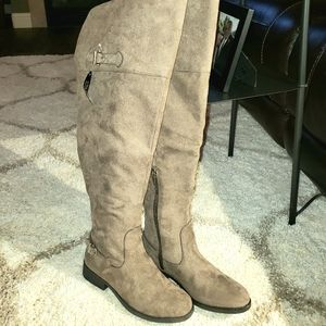 NWT Over the Knee Boots - Microfiber - Wide Calf